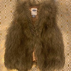 4t little girl fur vest